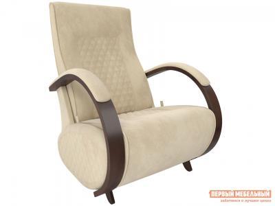 Кресло-качалка  Кресло-глайдер Баланс-3 Орех 39, Verona Vanilla, велюр Мебель Импэкс. Цвет: бежевый