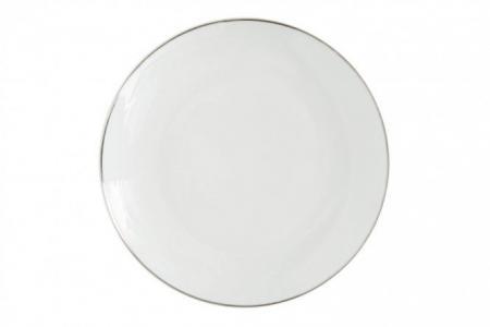 Тарелка обеденная Rondo Platinum Hoff. Цвет: белый с платиновой окантовкой