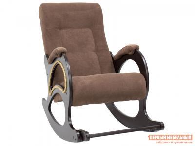 Кресло-качалка  Сиена КР 2 Венге, Verona Brown, велюр Мебель Импэкс. Цвет: венге