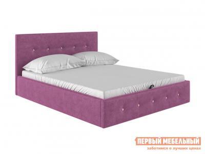 Двуспальная кровать  Колумбия ПМ Бордовый / Лиловый велюр, 1800 Х 2000 мм Первый Мебельный. Цвет: красный