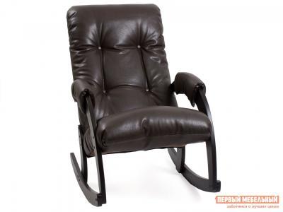 Кресло-качалка  Комфорт Модель 67 Венге, Vegas Lite Amber, иск. кожа Мебель Импэкс. Цвет: венге