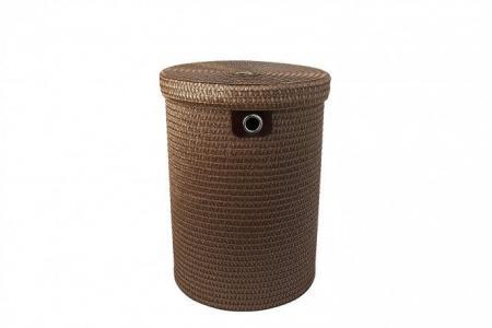 Корзина для белья с крышкой DSA18-4R Hoff. Цвет: коричневый