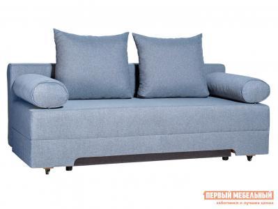 Прямой диван  Челси Серо-голубой, рогожка Мягкая Линия. Цвет: серый