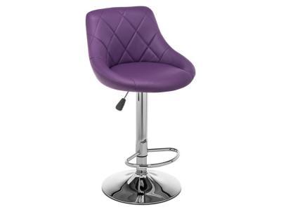 Барный стул  Curt Фиолетовый, кожзам / Хром Лайфмебель. Цвет: фиолетовый
