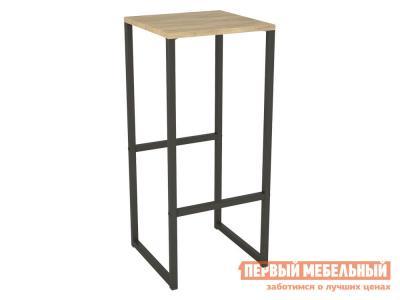 Барный стул  Калифорния Хайбол Дуб Сонома / Черный, металл мебель. Цвет: светлое дерево