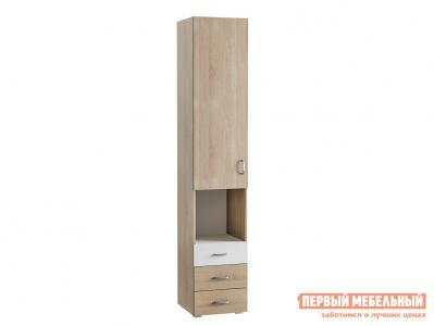 Стеллаж в детскую  Шкаф Линда с 3 ящиками 03.269 Дуб Сонома / Белый (текстура дерева) Моби. Цвет: светлое дерево