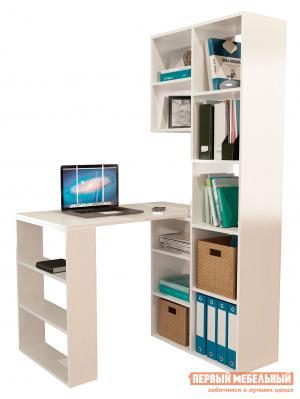 Компьютерный стол  Рикс-2 + Рикс-5 Белый МФ Мастер. Цвет: белый
