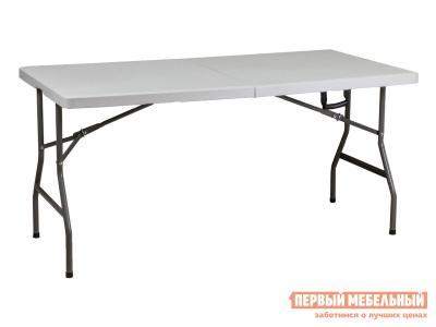 Пластиковый стол  складной 152*76*74 Белый, пластик / Графит, металл Базистрейд. Цвет: белый