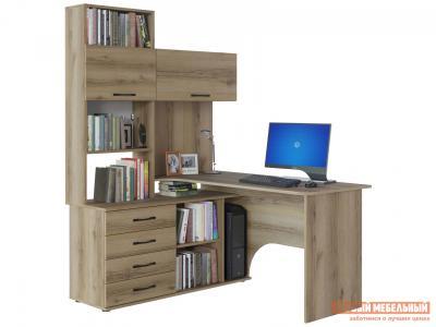 Компьютерный стол  КСТ-14 Дуб Делано, Левый Сокол. Цвет: светлое дерево