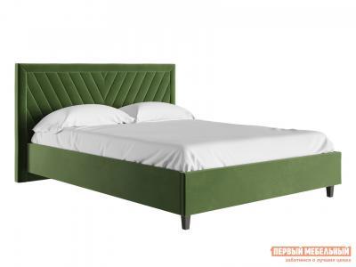 Двуспальная кровать  с подъемным механизмом Саманта Зеленый, микровелюр, 1600 Х 2000 мм Первый Мебельный. Цвет: зеленый