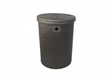 Корзина для белья с крышкой DSA18-2R Hoff. Цвет: серый