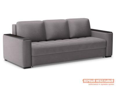 Прямой диван  Норден Люкс Серый, велюр Живые диваны. Цвет: серый