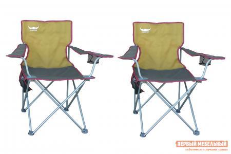 Кресло для пикника  4004 Набор кресел Буффало Серо-бежевый, полиэстер Бел Мебельторг. Цвет: серый