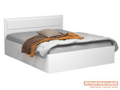 Двуспальная кровать  Жаклин с ящиками Белый, 1600 Х 2000 мм ВВР. Цвет: белый