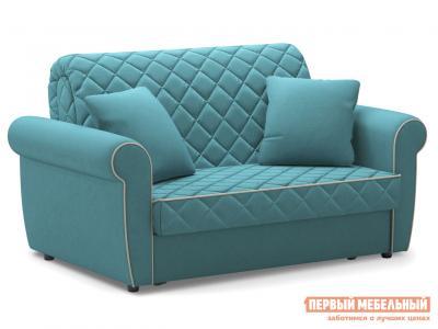 Прямой диван  Денвиль / Люкс Бирюзовый, велюр , 120х200 см, Независимый пружинный блок, новый Живые диваны. Цвет: зеленый