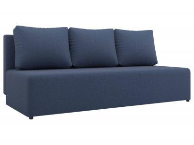 Прямой диван  Нексус Синий, рогожка Столлайн. Цвет: синий