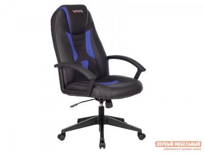Игровое кресло  VIKING-8 Черный, экокожа / Синий, Бюрократ. Цвет: черный