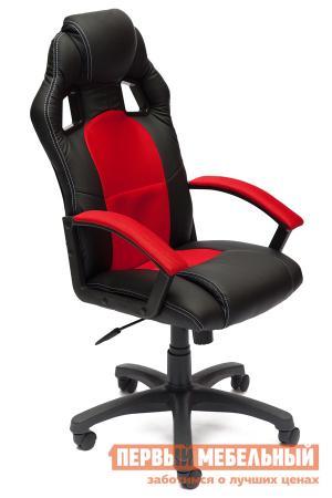 Игровое кресло  Driver Иск.кожа черная / Ткань красная, 36-6/08 Tetchair. Цвет: черный