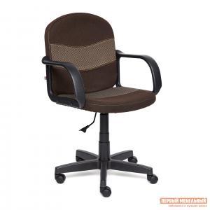 Офисное кресло  BAGGI Ткань коричневая / бежевая Tetchair. Цвет: коричневый