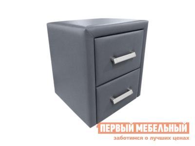 Прикроватная тумбочка  Тумба Женева Серый, экокожа Первый Мебельный. Цвет: серый