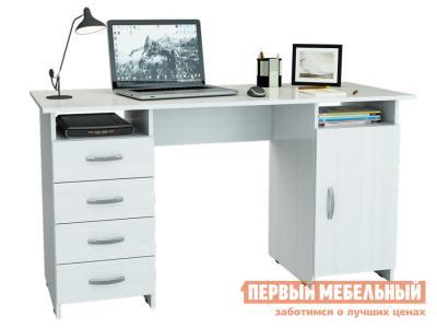 Компьютерный стол  письменный Милан-7 (0120) Белый МФ Мастер. Цвет: белый