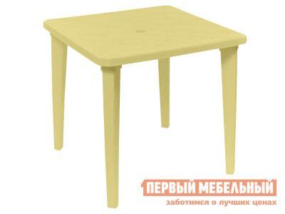 Пластиковый стол  Куба Бежевый, пластик Элластик Пласт. Цвет: бежевый