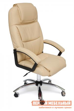 Кресло руководителя  BERGAMO CHROME Иск. кожа бежевая PU C36-34 Tetchair. Цвет: бежевый