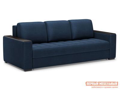 Прямой диван  Норден Люкс Синий, велюр Живые диваны. Цвет: синий
