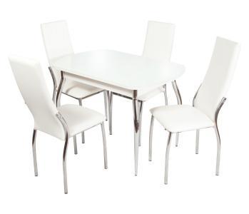 Обеденная группа Ривьера вариант №2 (белый) HomeMe