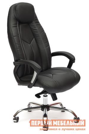 Кресло руководителя  BOSS люкс Иск.кожа черная перфор. (36-6/36-6/06) Tetchair. Цвет: черный