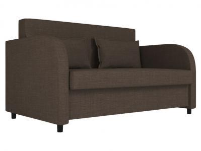 Прямой диван  Алекс Коричневый, рогожка Столлайн. Цвет: коричневый