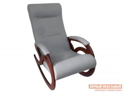 Кресло-качалка  Венера Графит, рогожка / Темный орех Мебвилл. Цвет: серый