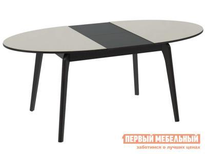 Кухонный стол  СМ(Б)-102.01.12(1) Венге / Бежевое стекло глянец ТриЯ. Цвет: бежевый