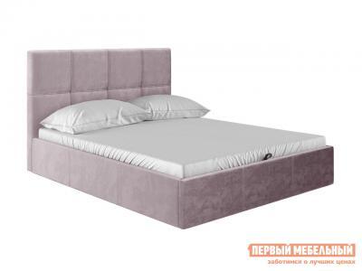 Двуспальная кровать  Верда Розовый, велюр, 140х200 см Первый Мебельный. Цвет: розовый