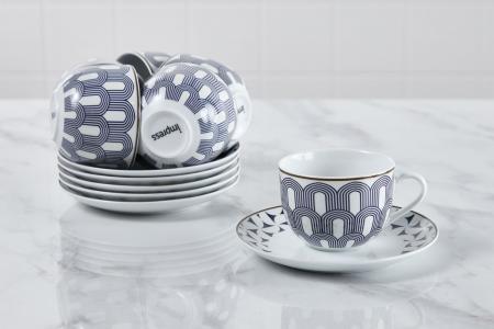 Набор чайных пар на 6 персон Art D?co Light Diana IMPRESS