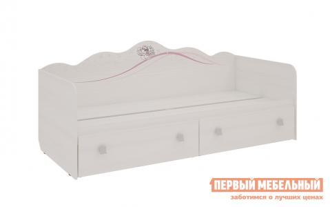 Детская кровать  Фэнтези софа Белый Рамух Мебельсон. Цвет: светлое дерево