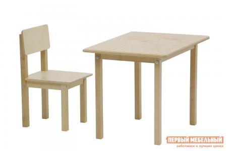 Столик и стульчик  Комплект детской мебели kids Simple 105 S Натуральный Polini. Цвет: светлое дерево