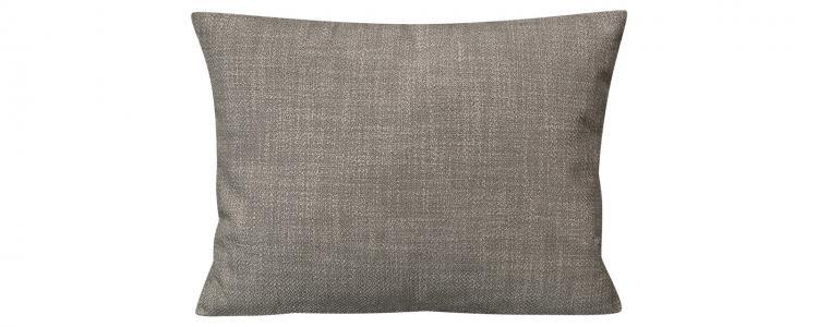 Декоративная подушка Портленд 60х48 см Nobilia серый (Рогожка) HomeMe. Цвет: серый