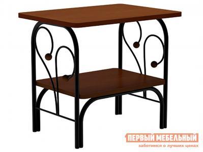 Прикроватная тумбочка  тумба Сандра Черный металл / Орех Форвард-мебель. Цвет: черный