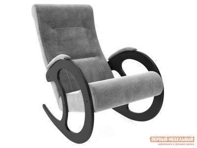 Кресло-качалка  Блуа КР Венге, Verona Antrazite Grey, велюр Мебель Импэкс. Цвет: венге