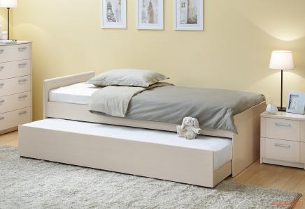 Детская кровать  выдвижная Дуэт Шимо светлый Боровичи. Цвет: светлое дерево