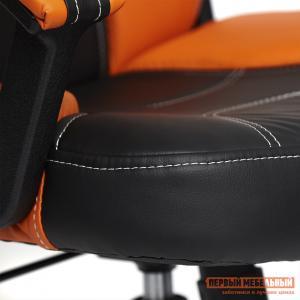 Кресло руководителя  Twister Черный, иск.кожа / Оранжевый, Tetchair. Цвет: черный