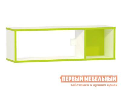 Детская полка  Альфа 09.129 Лайм зеленый / Белый премиум Моби. Цвет: белый