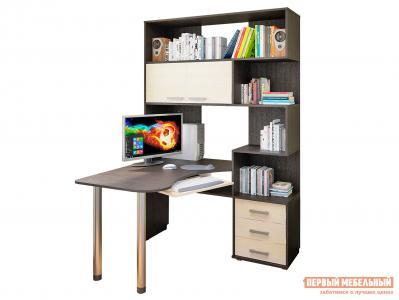 Компьютерный стол  СК-53 Венге / Молочный дуб Фабрика Пирамида. Цвет: венге